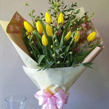 Ramo de tulipanes Amarillos