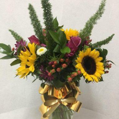 Arreglo Floral con Girasoles Mini