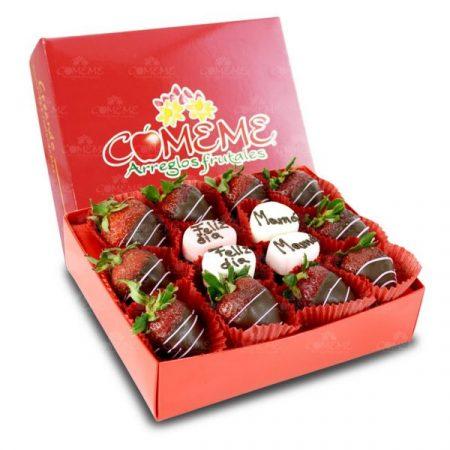 Caja con Fresas Día de las Madres