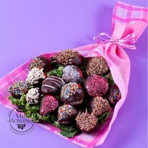 Flores a domicilio -Ramo con 15 fresas con chocolate
