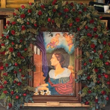Arco de Flores para Virgen