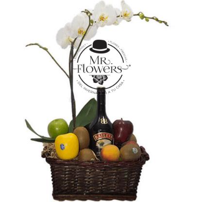 Orquidea con fruta y baileys