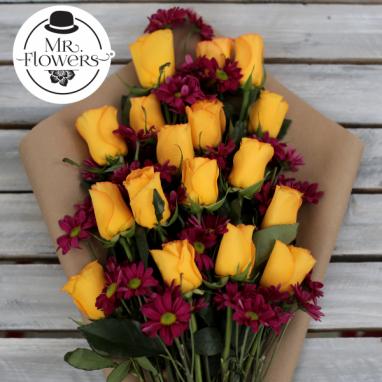 Ramo con 18 Rosas Amarillas
